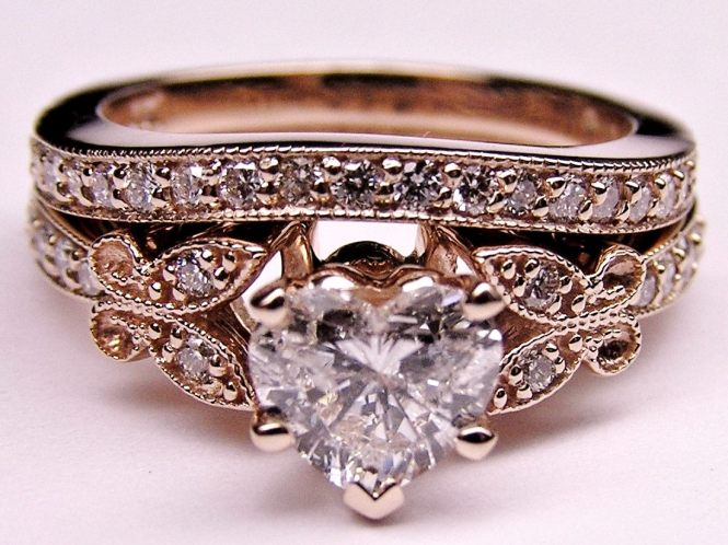 Engagement Ring Heart Shape Diamond Erfly Vintage