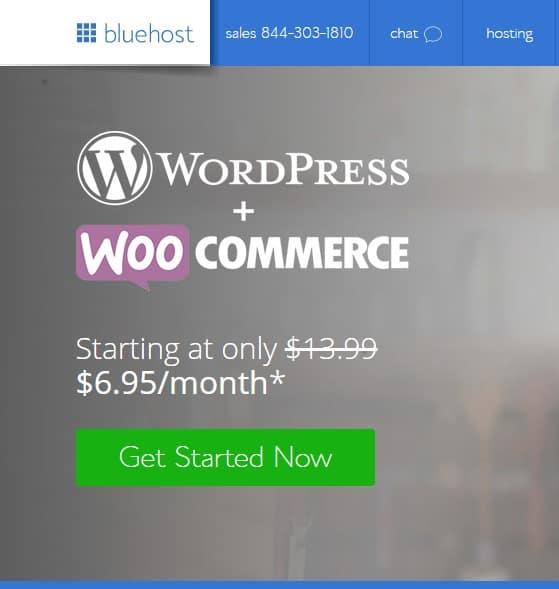 bluehost woo commerce