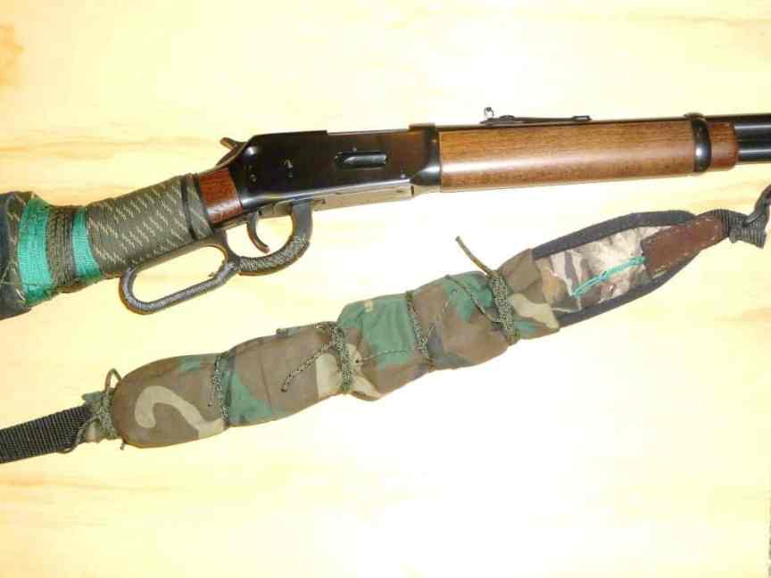 Sling on lever action rifle and ready to bug out