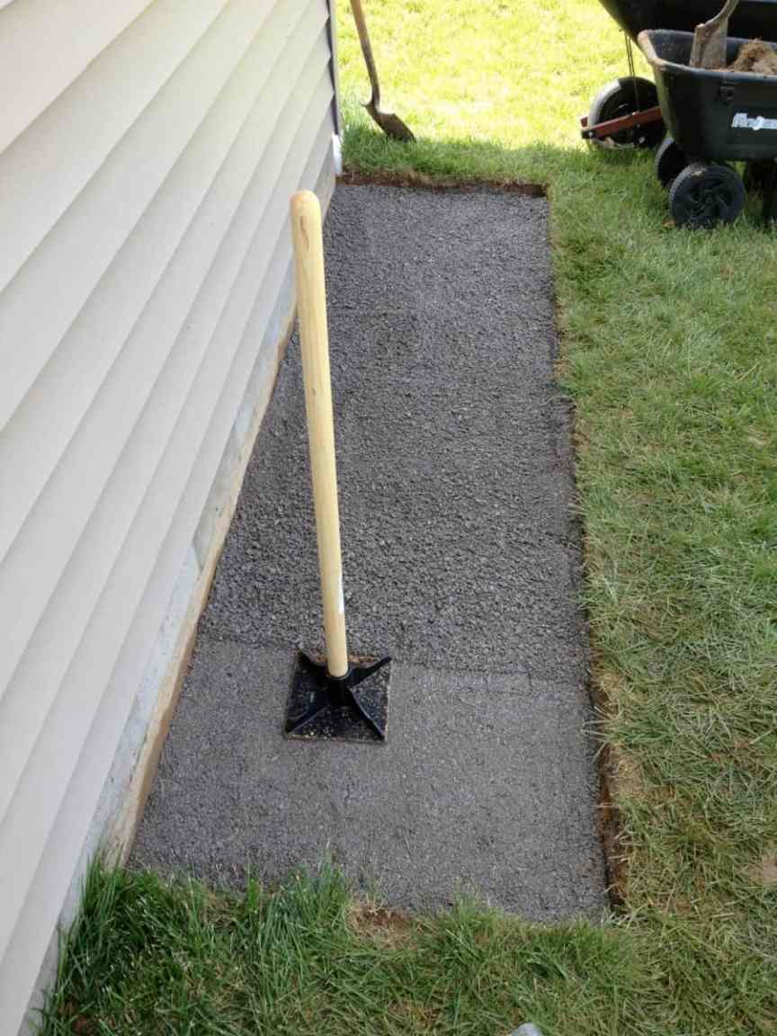 preparing the ground for rainwater catchment home use