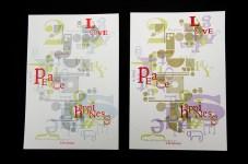 16. christmas card, xmas, letterpress, typography,