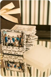 Square Accordion Mini book with Frosted Slip Cover