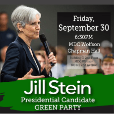 MDGP anticipating Jill Stein's visit to Miami!