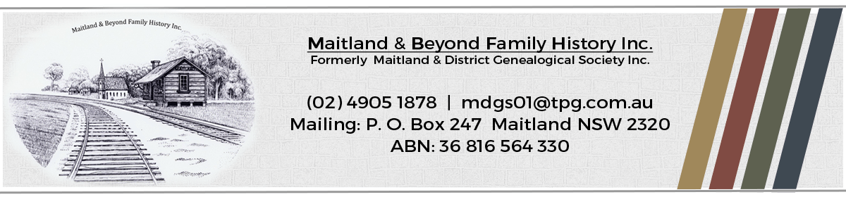 Maitland & Beyond Family History Inc - MDGS.org.au