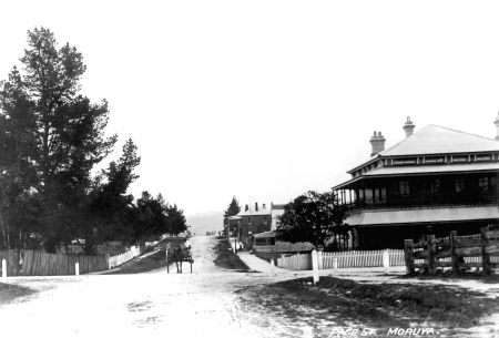 Page St Moruya Looking North across Campbell St