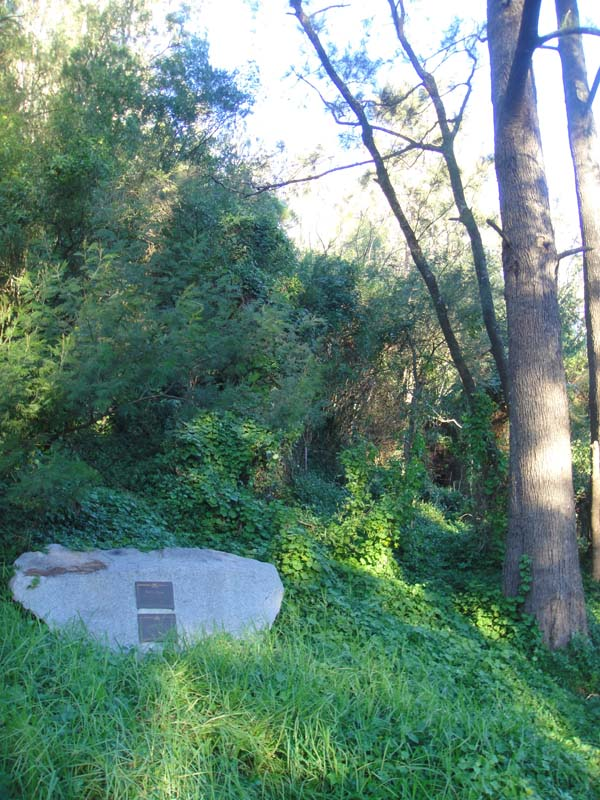The memorial to charles Harpur, early Australian 'bush poet'.