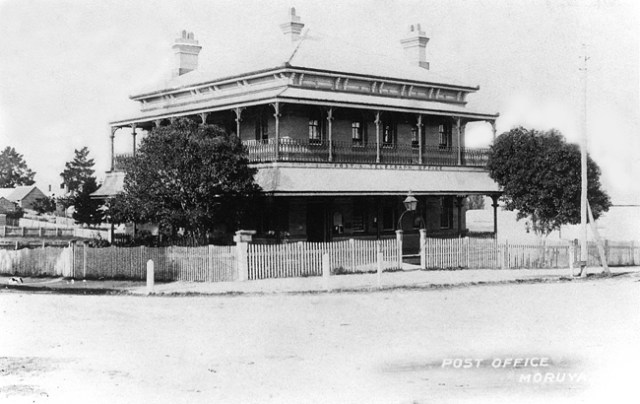 The Post and Telegraph Office, opened in 1887, was a grand civic building in Moruya.