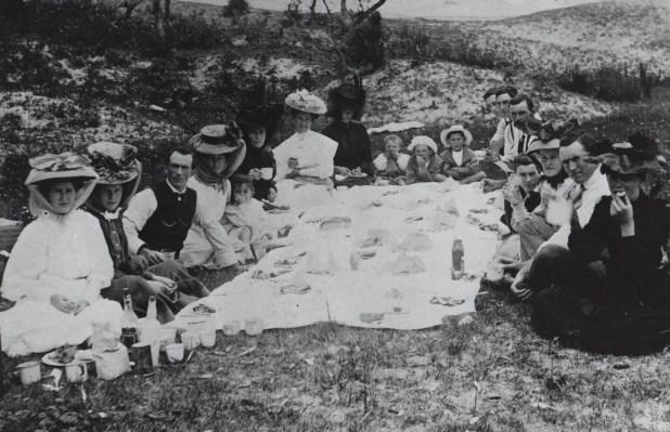 Ilma Waters obviously loved picnics. This phot was taken at a picnic at Moruya Heads in 1908.