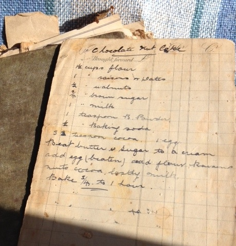 Mrs James's cookbook. Perhaps the guests at the Linen Tea were offered some of her Chocolate Nut Cake