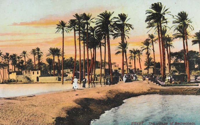 One of The postcards Leo de Saxe bought in Egypt before he left for Gallipoli.
