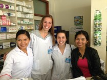 Pharmacy! I loved these two! Lisset and Mariluz taught me a lot!
