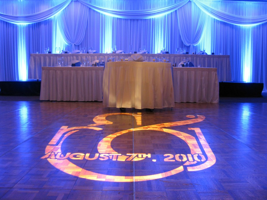 Head Table with fabric drapings