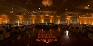 Up Lighting for Indiana wedding