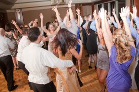 Rocking wedding crowd