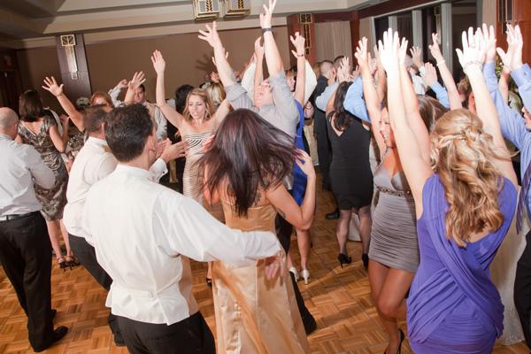 Rocking wedding crowd