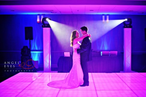 Bride and Groom's First Dance on LED Dance Floor