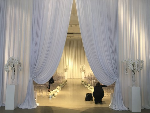 Chez Chicago Wedding Entry Drape