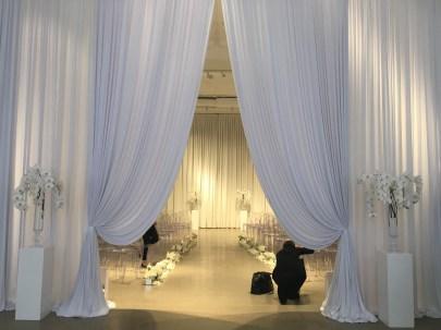 Chez Chicago Wedding Entry Drape