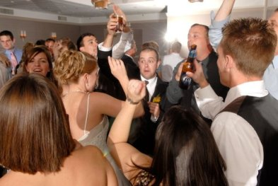 Dance floor at Holiday Inn Merch Mart Wedding