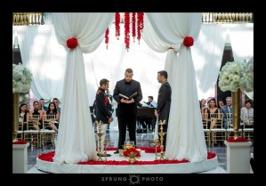 Harold Washington Library Gay Wedding Ceremony Drape photo by Sprung Photo
