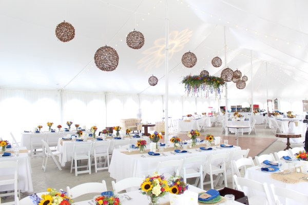 Lighting for a Heritage Prairie Farms Wedding