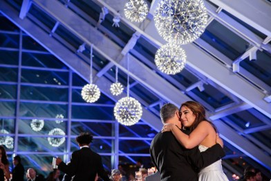 Silver Pendant Chandeliers and Uplighting at an Adler Wedding Photo By Wes Craft
