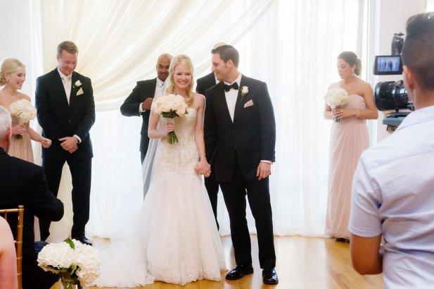 Wedding Ceremony Backdrop at Metropolis Ballroom Wedding (2)