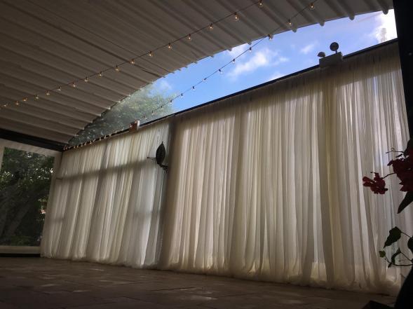 Window Drape for a Wedding at Galleria Marchetti Pergola