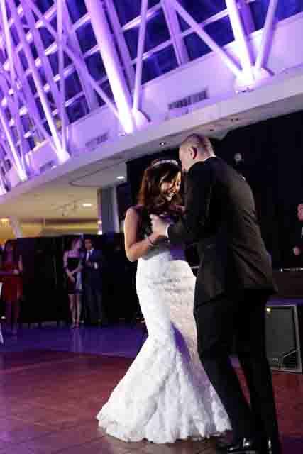 Estel and Walter's first dance at Adler Palnetarium