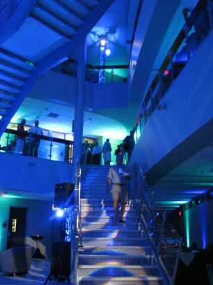 Event Lighting at Lewis University Science Building - Stairwell