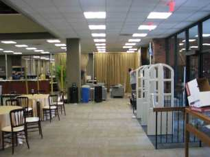 Lewis University Library Before Lighting