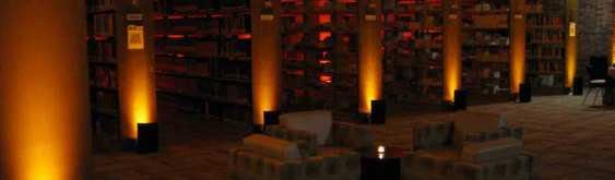 Event Lighting at Lewis University Library