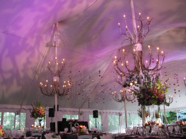 Purple Wedding Lighting at Galleria Marchetti in Chicago