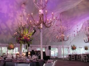 Purple Wedding Lighting at Galleria Marchetti