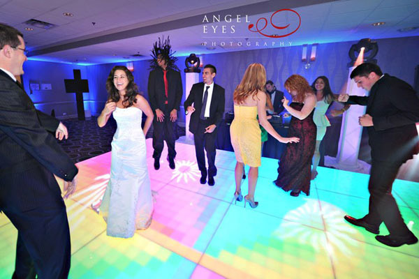 LED Dance Floor at a Chicago Wedding