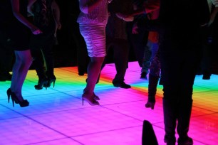LED Dance Floor at a Chicago Corporate Event
