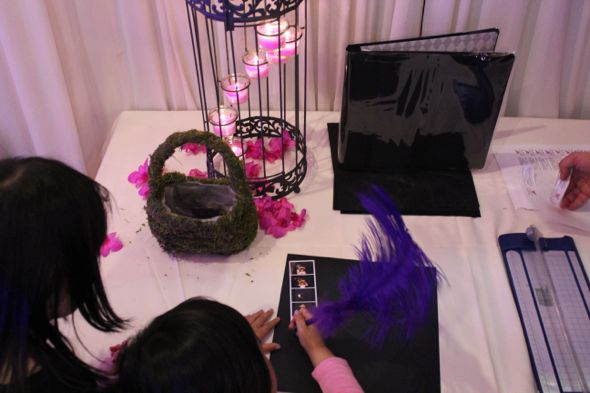 Christina and Ron's Photo Booth Table decorated
