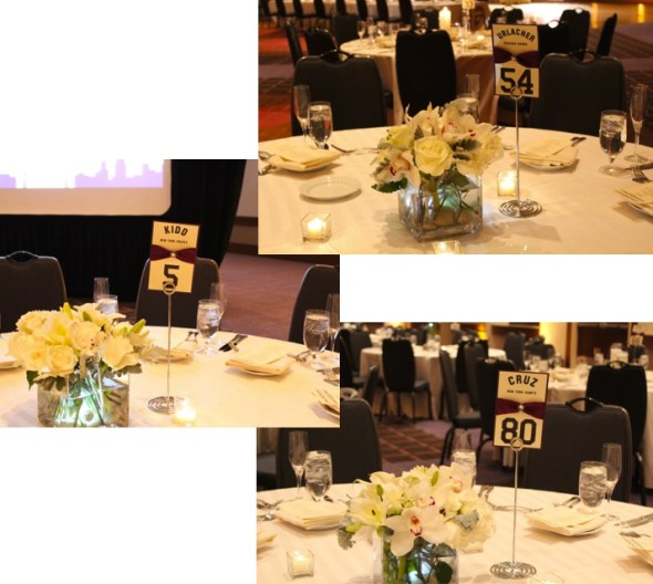 Gisha and Sanjay's table numbers