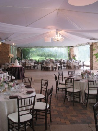 Wedding Decor at Chicago Botanic Gardens