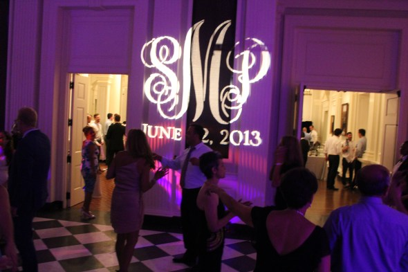 Chicago Wedding Lighting personal Gobo
