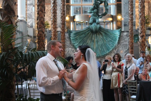 First Dance during wedding at Pazzo's