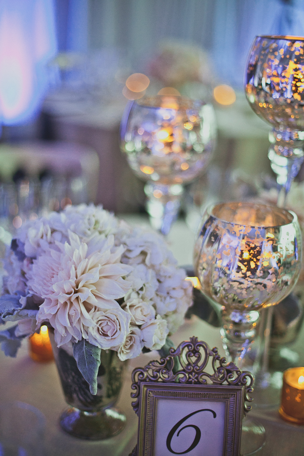 Centerpieces at a Room 1520 Wedding
