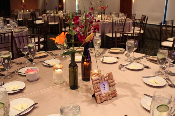 Independence Grove Wedding DIY centerpieces