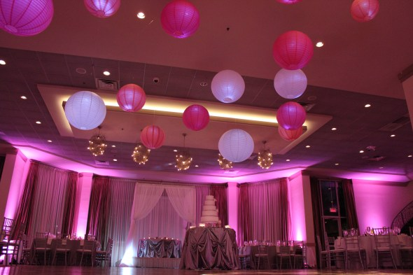 Floating Lanterns at Belvedere Banquets Wedding