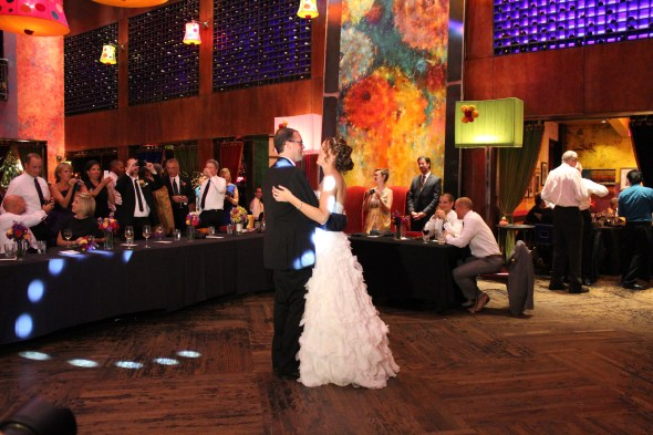 First Dance at Wedding at Carnivale