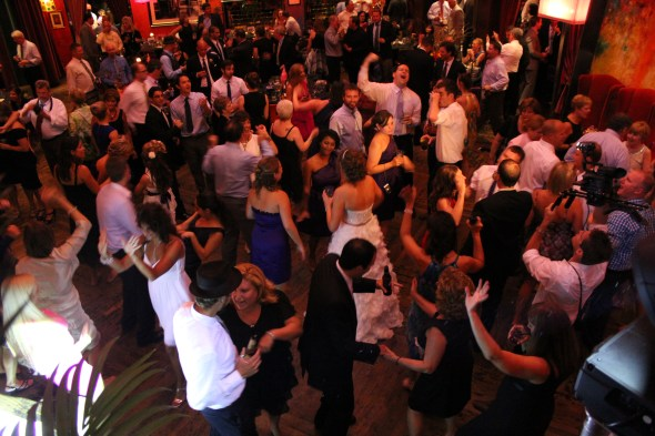 Dance Floor at Carnivale Wedding