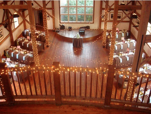 The Byron Colby Barn Rustic Chic Wedding Venue Wedding Lights