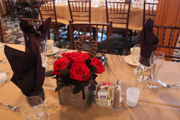 Centerpieces at Season's of Long Grove Wedding