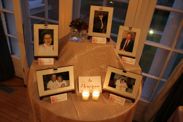 Memorial Table at Highland Park Community House