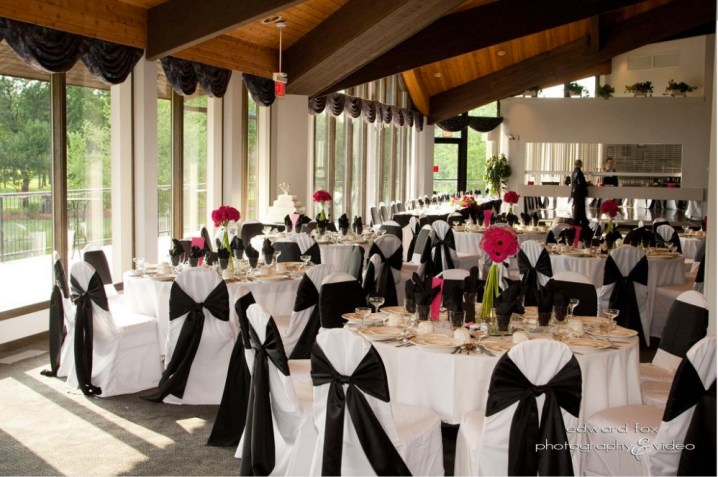 White Pines Golf Club Rustic Chic Wedding Venue reception